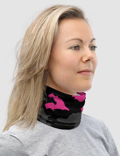 Dark Pink Camouflage | Neck Gaiter Face Mask