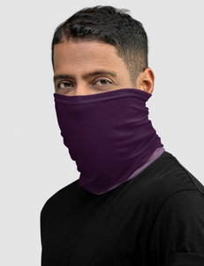 Dark Purple Ombre Neck Gaiter Face Mask - OniTakai
