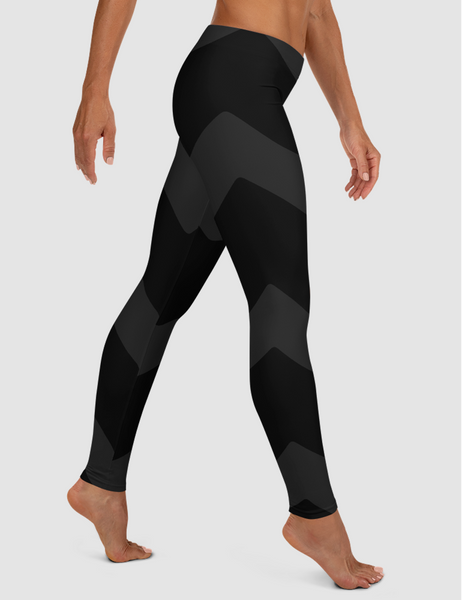 Dark Chevron | Women's Standard Yoga Leggings