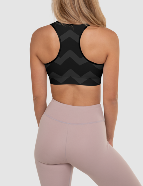 Dark Chevron | Women's Padded Sports Bra