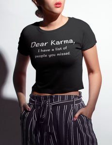 Dear Karma | Crop Top T-Shirt