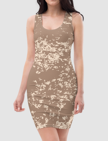 Desert Storm | Women's Sleeveless Fitted Sublimated Dress