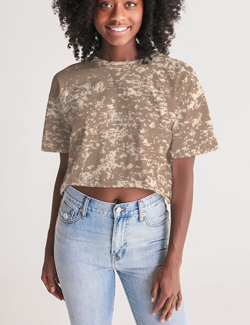 Desert Storm | Women's Oversized Crop Top T-Shirt
