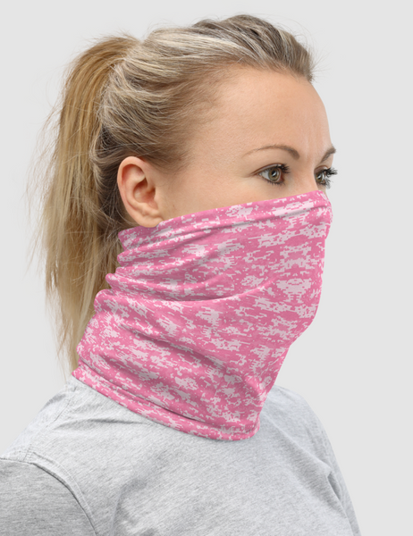 Digital Military Pink Camouflage Print | Neck Gaiter Face Mask