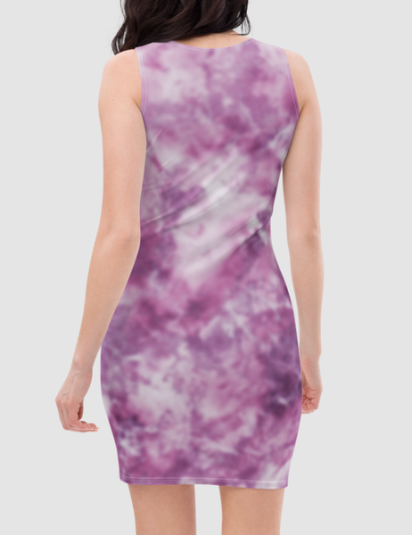 Faded Tie Dye | Women's Sleeveless Fitted Sublimated Dress