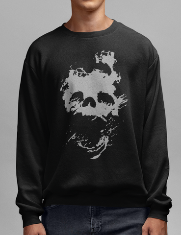 Fading Light Death Skull Crewneck Sweatshirt - OniTakai