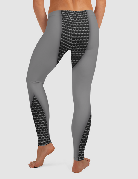 Faux Carbon Kevlar Print | Women's Standard Yoga Leggings