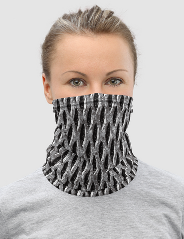 Faux Warehouse Metal | Neck Gaiter Face Mask