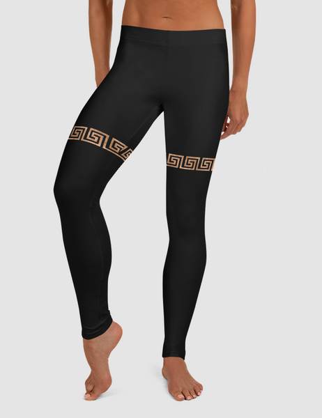 Faux Thigh Belted Rustic Gold | Women's Standard Yoga Leggings