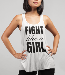 Fight Like A Girl Women's Cut Racerback Tank Top - OniTakai