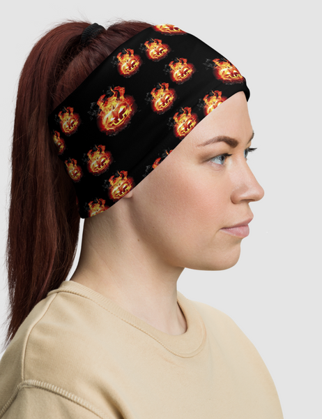 Flaming Pumpkin Heads | Neck Gaiter Face Mask