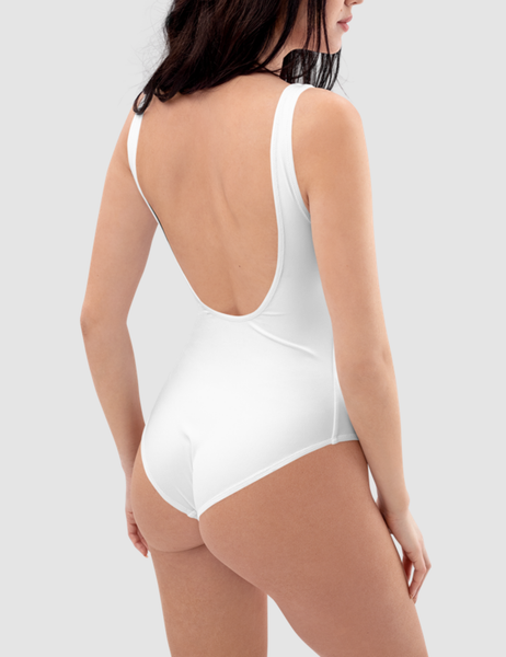 Fuck It Faux Metal Print | Women's One-Piece Swimsuit