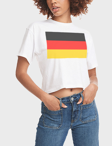 German Flag | Women's Relaxed Crop Top T-Shirt