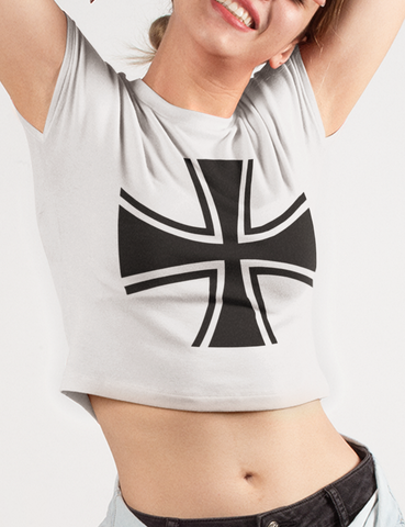German Iron Cross | Crop Top T-Shirt