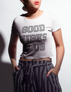 Good Vibes Club | Crop Top T-Shirt