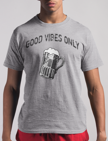 Good Vibes Only Mens Heather Grey T-Shirt