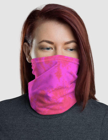 Hot Pink Tie Dye Print | Neck Gaiter Face Mask