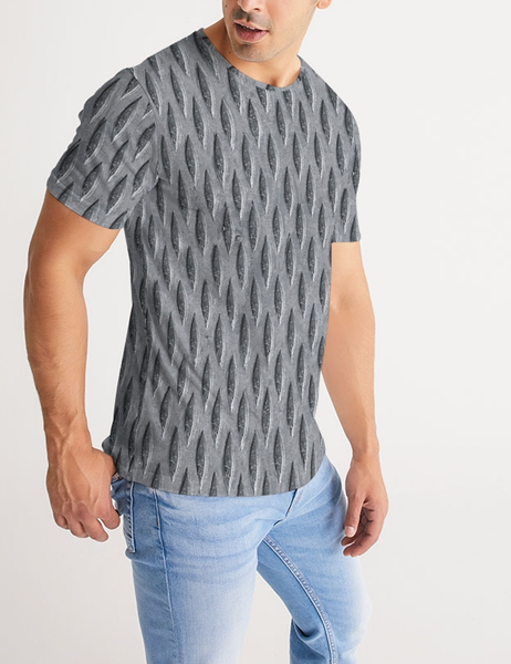 Industrial Metal Grid Pattern | Men's Sublimated T-Shirt