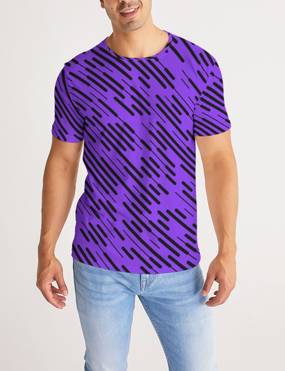 Irregular Grid Lines | Men's Sublimated T-Shirt