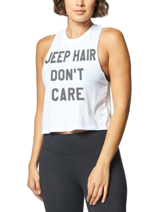 Jeep Hair Don't Care | Women's Sleeveless Racerback Cropped Tank Top