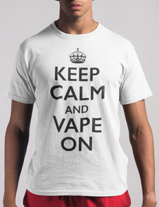 Keep Calm And Vape On T-Shirt - OniTakai