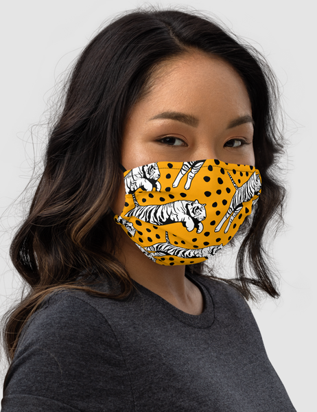 Leaping Tiger | Premium Double Layered Pocket Face Mask