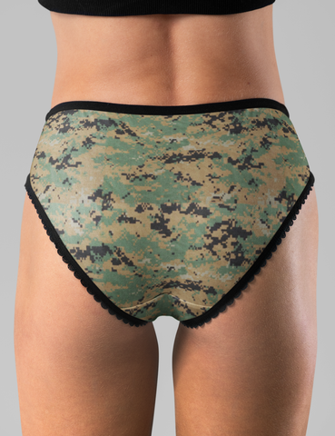 MARPAT Digital Woodland Camouflage Print | Women's Intimate Briefs