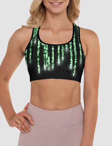 Matrix Code | Women's Padded Sports Bra