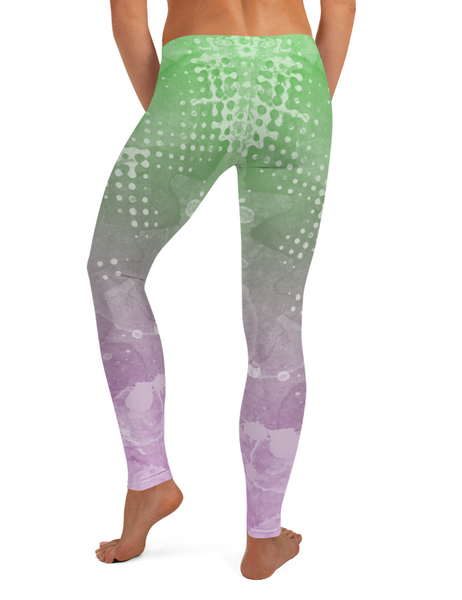 Mermaid Ombre Low Waist Yoga Leggings