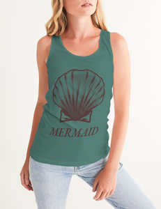 Mermaid Shell | Women's Fitted Sublimated Tank Top