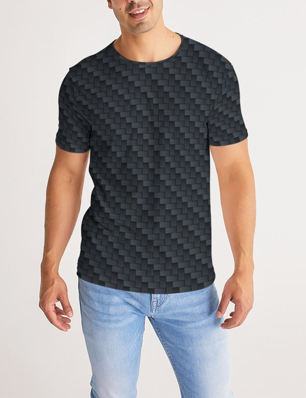 Metallic Fabric Pattern Print Design | Men's Sublimated T-Shirt