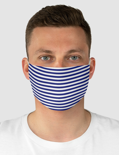Navy Stripes | Fabric Face Mask