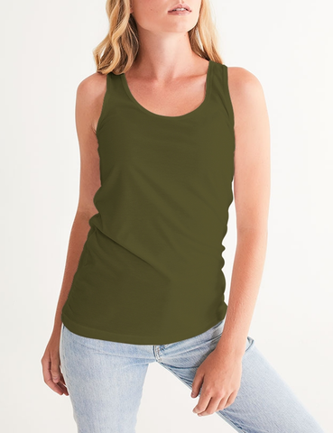 Olive Classic | Women's Fitted Sublimated Tank Top