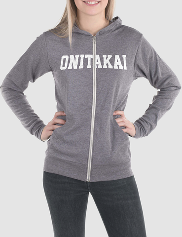 OniTakai Athletica | Women's Triblend Zip Hoodie