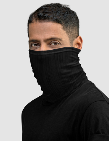 Black Brush Neck Gaiter Face Mask - OniTakai