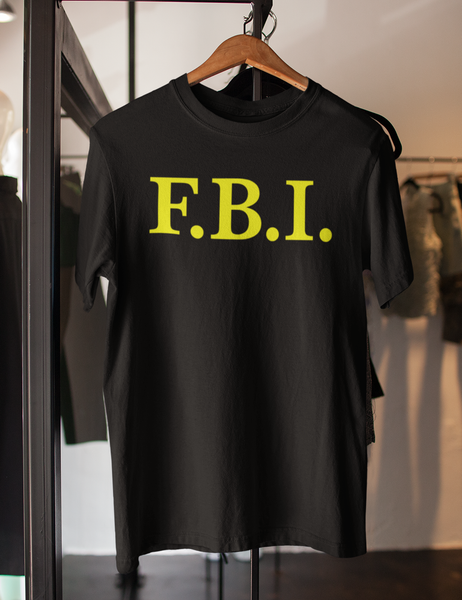 F.B.I. Men's Black T-Shirt - OniTakai