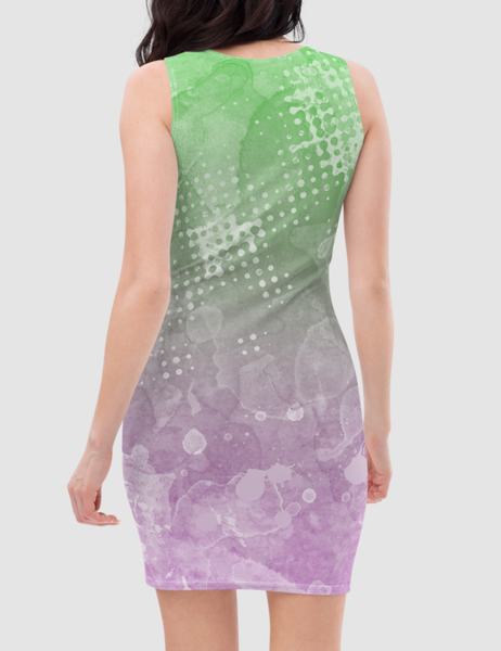 Mermaid Ombre Women's Sleeveless Fitted Sublimated Dress - OniTakai