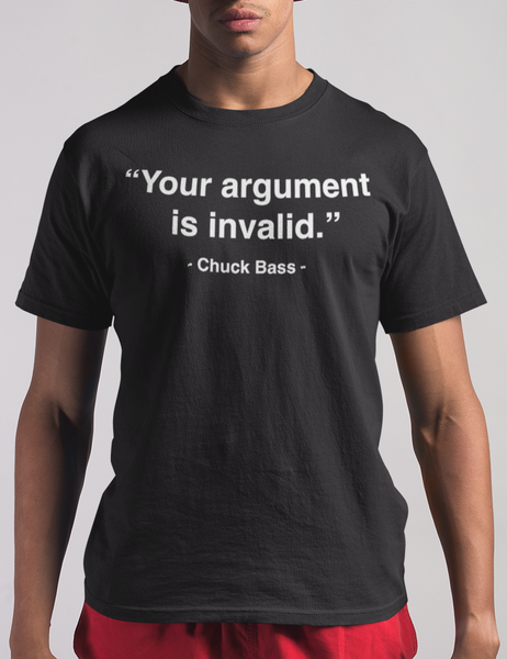 Your Argument Is Invalid Funny Chuck Bass Style Men's Black T-Shirt - OniTakai