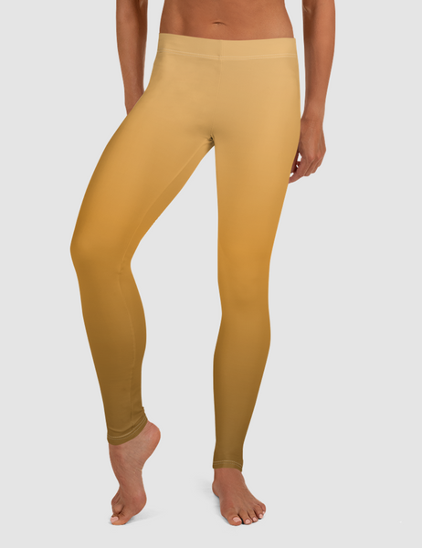 Orange Sunset Low Waist Yoga Leggings