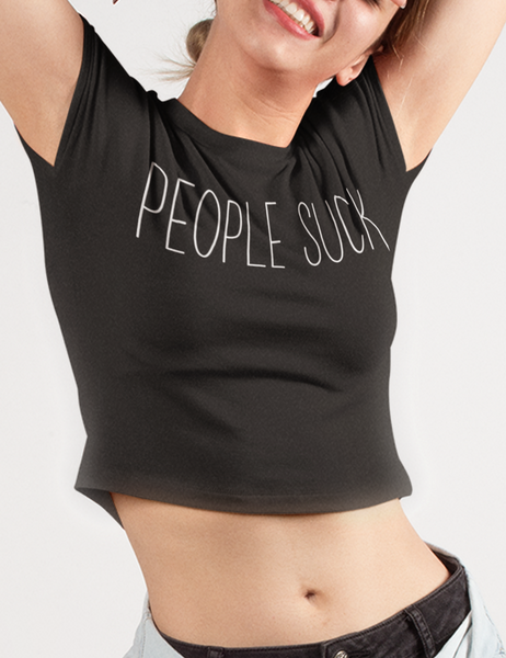 People Suck Crop Top T-Shirt - OniTakai