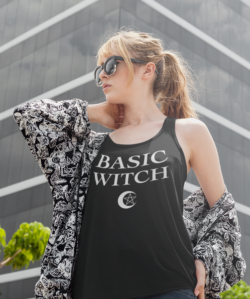 Basic Witch | Women's Cut Racerback Tank Top