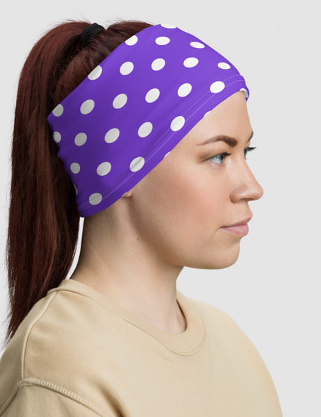 Purple Polka Dot | Neck Gaiter Face Mask
