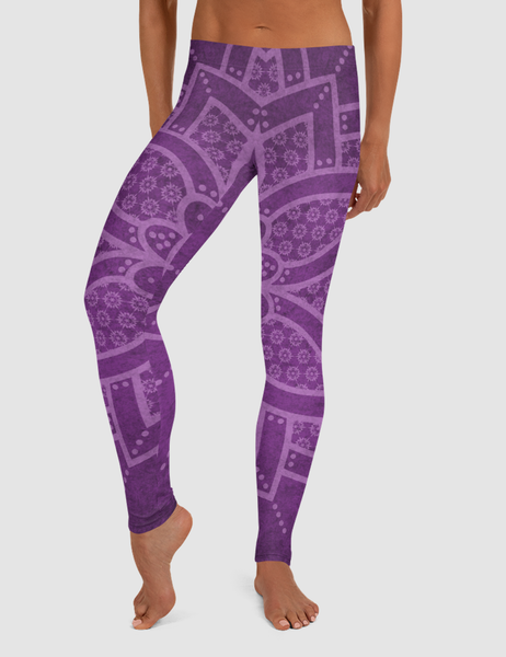 Purple Mandala | Women's Standard Yoga Leggings