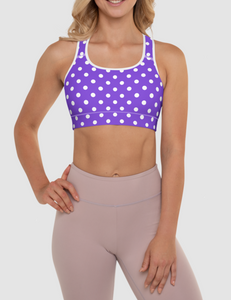 Purple Polka Dot | Women's Padded Sports Bra
