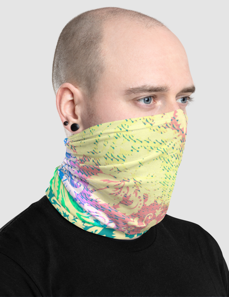 Radically Groovy Floral Print | Neck Gaiter Face Mask