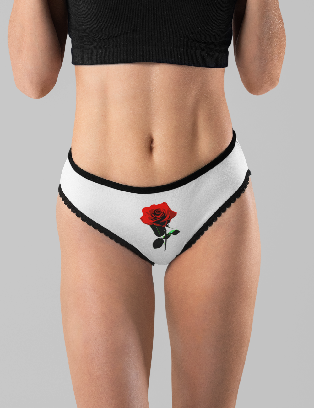 Red Rose Women's Intimate Briefs