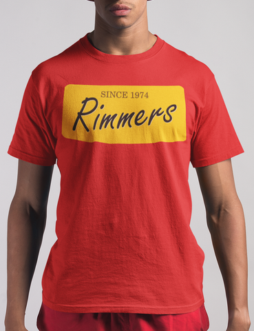 Rimmers Since 1974 GTA Inspired Mens Red T-Shirt - OniTakai