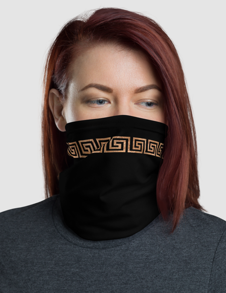 Faux Belted Rustic Gold | Neck Gaiter Face Mask