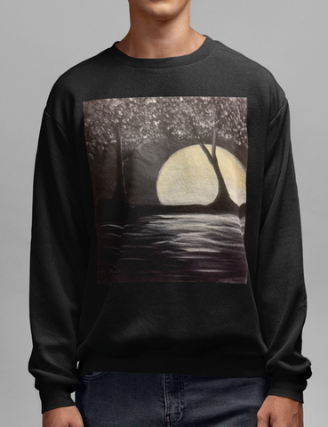 Serene Moonlight Crewneck Sweatshirt - OniTakai