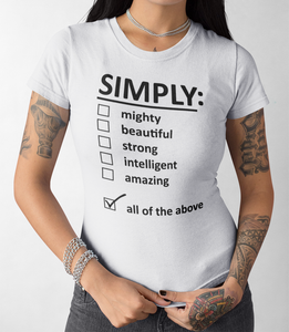 Simply All Of The Above Women's Cut T-Shirt